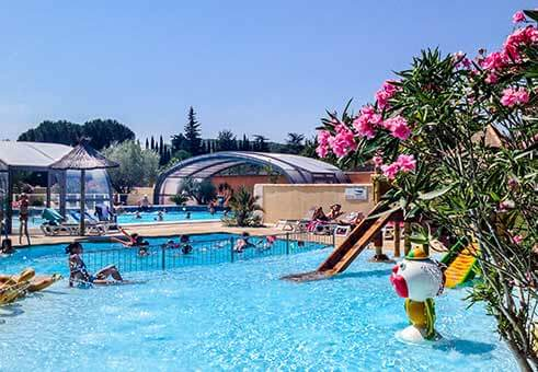 Camping sud ard che 4 toiles piscine couverte et for Camping les issambres avec piscine