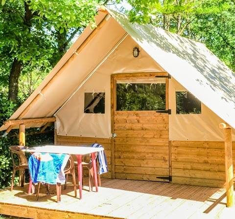Location tente canadienne camping Ardèche